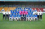 St Johnstone FC Photocall….2018/19 Season<br />Pictured back row from left, Liam Craig, Ali McCann, Brian Easton, Murray Davidson, Greg Hurst, Liam Gordon, Jason Kerr, Steven Anderson, Ross Callachan, Tony Watt, Kyle McClean and David McMillan.<br />Middle row from left, Alex Headrick (Sports Science), Mel Stewart (Physio), Ewan Peacock (Chief Scout), Tristan Nydam, Stefan Scougall, Blair Alston, Ross Sinclair, Zander Clark, Mark Hurst, Scott Tanser, Callum Hendry, Alan Maybury (U20's Coach), Paul Mathers (Goalkeeping Coach) Alistair Stevenson (Youth Development Manager) and Graeme Robertson (Kit Manager)<br />Front row from left, Danny Swanson, Aaron Comrie, Matty Kennedy, Joe Shaughnessy (Captain), Tommy Wright (Manager), Alex Cleland (Assistant Manager), David Wotherspoon, Richard Foster, Drey Wright and Chris Kane.<br />Picture by Graeme Hart.<br />Copyright Perthshire Picture Agency<br />Tel: 01738 623350  Mobile: 07990 594431
