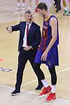 League ACB-ENDESA 2020/2021.Game 15.<br /> FC Barcelona vs Club Joventut Badalona: 88-74.<br /> Sarunas Jasikevicius & Artem Pustovyi.