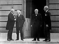 Council of Four of the Peace Conference.  Mr. Lloyd George; Signor Orlando; M. Clemenceau; President Woodrow Wilson.  Hotel Crillon, Paris, France.  May 27, 1919.  Capt. Jackson.  (Army)<br />NARA FILE #:  111-SC-55456<br />WAR & CONFLICT BOOK #:  722