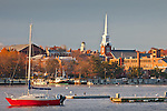 Sunrise on the Merrimack River in Newburyport, MA, USA