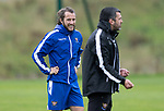 St Johnstone Training……26.08.20<br />Stevie May listens to manager Callum Davidson during training at McDiarmid Park ahead of Saturday's game against St Mirren.<br />Picture by Graeme Hart.<br />Copyright Perthshire Picture Agency<br />Tel: 01738 623350  Mobile: 07990 594431