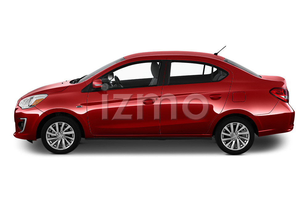 Car Driver side profile view of a 2020 Mitsubishi Mirage-G4 SE 4 Door Sedan Side View