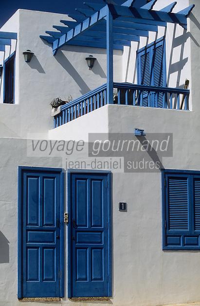Europe/Espagne/Iles Canaries/Lanzarote/Puerto del Carmen : Détail architecture