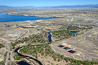 Looking northwest aerial of Lake Pueblo and Pueblo Dam. April 2012 JCW5309