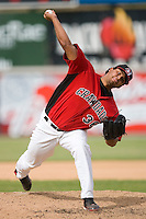 Matt Nevarez #36 of the Hickory Crawdads in action versus the West Virginia Power at L.P. Frans Stadium June 21, 2009 in Hickory, North Carolina. (Photo by Brian Westerholt / Four Seam Images)