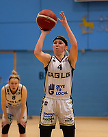 Maddy McVicar of Newcastle Eagles during the WBBL Championship match between Sevenoaks Suns and Newcastle Eagles at Surrey Sports Park, Guildford, England on 20 March 2021. Photo by Liam McAvoy