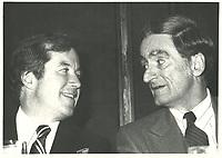 Le nouveau chef du PLQ, Claude Ryan a la tribune de la chambre de commerce de Montreal, le 3 novembre 1978<br /> <br /> <br /> <br /> <br /> PHOTO :  Agence Quebec Presse