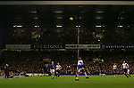 Everton 1, West Ham United 2, 14/12/2005. Goodison Park, FA Premiership. Everton host West Ham United in a mid-season game on Merseyside. The away team came from behind to win, watched by a crowd of 35,704. Photo by Colin McPherson.