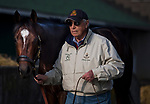 LOUISVILLE, KY - MAY 02: D. Wayne Lukas walks Sporting Chance after morning workouts at Churchill Downs on May 2, 2018 in Louisville, Kentucky. (Photo by Scott Serio/Eclipse Sportswire/Getty Images)