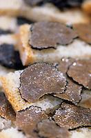 "Europe/Italie/Ombrie/Env de Citta di Castello : Toasts aux truffes blanches chez Saverio Bianconi ""Tartufi Bianconi"""