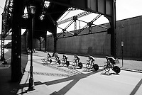 Hincapie Cycling Team (USA) out on the course<br /> <br /> Elite Men's Team Time Trial<br /> UCI Road World Championships Richmond 2015 / USA