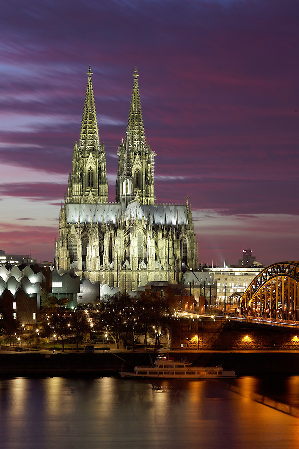 Cologne Cathedral and Rhine River, Cologne, Germany, Europe