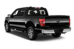 Car pictures of rear three quarter view of 2021 Ford F-150 XLT 4 Door Pick-up Angular Rear