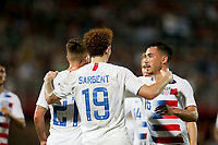 GEORGETOWN, GRAND CAYMAN, CAYMAN ISLANDS - NOVEMBER 19: Josh Sargent #19 of the United States celebrates his goal during a game between Cuba and USMNT at Truman Bodden Sports Complex on November 19, 2019 in Georgetown, Grand Cayman.