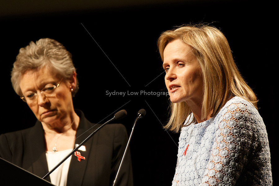 The co-chairs of the 20th International AIDS Conference (AIDS 2014) Françoise Barré-Sinoussi and Professor Sharon Lewin speak at the opening session of the 20th International AIDS Conference at The Melbourne Convention and Exhibition Centre.<br /> For licensing of this image please go to http://demotix.com