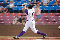 Seth Loman #27 of the Winston-Salem Dash follows through on a first inning home run against the Lynchburg Hillcats at Wake Forest Baseball Stadium August 30, 2009 in Winston-Salem, North Carolina. (Photo by Brian Westerholt / Four Seam Images)