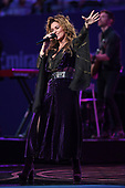 FLUSHING NY- AUGUST 28: Shania Twain performs during opening night cermony on Arthur Ashe Stadium at the USTA Billie Jean King National Tennis Center on August 28, 2017 in Flushing Queens. Photo by Larry Marano © 2017