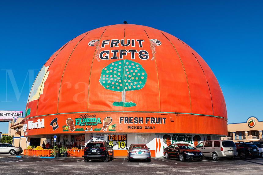 Orange World fruit gifts, Kissimmee, Florida, USA.