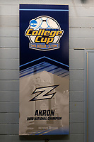Chester, PA - Friday December 08, 2017: Akron banner prior to a NCAA Men's College Cup semifinal soccer match between the Stanford Cardinal and the Akron Zips at Talen Energy Stadium.
