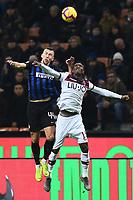 Mattia Perin of Juventus , Ibrahima Mbaye of Bologna <br /> Milano 03-02-2019 Stadio San Siro Football Serie A 2018/2019 Inter - Bologna    <br /> Foto Image Sport / Insidefoto