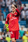 Goalkeeper Thibaut Courtois of Real Madrid reacts after the La Liga 2018-19 match between Real Madrid and CD Leganes at Estadio Santiago Bernabeu on September 01 2018 in Madrid, Spain. Photo by Diego Souto / Power Sport Images