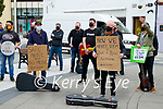 Kerry Musicians protest at the Square, Tralee on Wednesday.