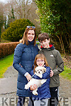 Caroline, Avery and Evan Avery taking their puppy Kobe for a walk in Killarney National Park on Friday