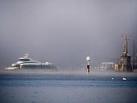 Imperia an Einfahrt zum Hafen Konstanz, Baden-Württemberg, Deutschland, Europa<br /> Imperia at port of Constance, Baden-Württemberg, Germany, Europe