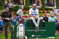 4th June 2021; Dublin, Ohio, USA; Bryson DeChambeau (USA) sits on a cooler near the tee on 10 during the Memorial Tournament Rd2 at Muirfield Village Golf Club on June 4, 2021 in Dublin, Ohio.