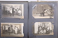 BNPS.co.uk (01202 558833)<br /> Pic: Elstob & Elstob/BNPS<br /> <br /> Pictured: A photo album of British prisoners of war performing amateur dramatics in a German camp, taken by Second Lieutenant Clarence Pickyard, of the 22nd Durham Light Infantry.<br /> <br /> Amazing photos of British PoWs doing amateur dramatics dressed as women in a German camp have emerged 103 years on.<br /> <br /> One officer goes all out in a flapper dress, while others don frocks and make-up in the jovial previously unseen images.<br /> <br /> They took their performances so seriously that they spent up to six hours a day rehearsing.<br /> <br /> The photos were taken by Second Lieutenant Clarence Pickyard, of the 22nd Durham Light Infantry, who was captured in June 1918 during the German Spring Offensive after being shot in the hip on the battlefield.<br /> <br /> He was detained for the remainder of the conflict at Schweidnitz PoW camp in Eastern Germany, writing regularly to his sweetheart Gwen Johnson. His camp photos and love letters are being sold alongside his campaign medals with auctioneers Elstob & Elstob, of Ripon, North Yorks.