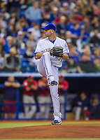 1 April 2016: Toronto Blue Jays pitcher J.A. Happ on the mound during pre-season, exhibition game against the Boston Red Sox at Olympic Stadium in Montreal, Quebec, Canada. The Red Sox defeated the Blue Jays 4-2 in the first of two MLB weekend exhibition games, which saw an attendance of 52,682 at the former home on the Montreal Expos. Mandatory Credit: Ed Wolfstein Photo *** RAW (NEF) Image File Available ***1 April 2016: Toronto Blue Jays pitcher J.A. Happ on the mound during a pre-season exhibition game against the Boston Red Sox at Olympic Stadium in Montreal, Quebec, Canada. The Red Sox defeated the Blue Jays 4-2 in the first of two MLB weekend games, which saw an attendance of 52,682 at the former home on the Montreal Expos. Mandatory Credit: Ed Wolfstein Photo *** RAW (NEF) Image File Available ***