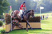 4th September 2021; Bicton Park, East Budleigh Salterton, Budleigh Salterton, United Kingdom: Bicton CCI 5* Equestrian Event; David Doel riding Ferro Point,