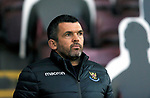 Motherwell v St Johnstone…28.11.20   Fir Park      BetFred Cup<br />Saints manager Callum Davidson <br />Picture by Graeme Hart.<br />Copyright Perthshire Picture Agency<br />Tel: 01738 623350  Mobile: 07990 594431