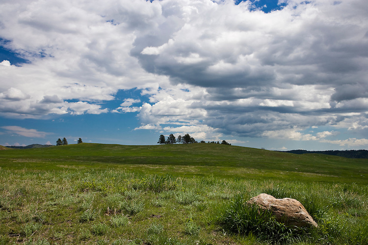 Summer cloud formations on the rolling hills at Custer State Park, SD