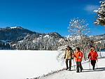 Deutschland, Bayern, Oberbayern, Landkreis Miesbach, Gemeinde Schliersee, Ortsteil Spitzingsee: Bergsee und gleichnamiger Ort im Mangfallgebirge der Bayerischen Alpen, Bayerns groesster Hochgebirgssee auf 1.085 m, beliebtes Naherholungs-, Wander- und Skigebiet | Germany, Upper Bavaria, Community Schliersee,  District Spitzingsee: mountain lake and village within Mangfall mountains at Bavarian Alps, popular local recreation area and hiking and skiing region