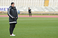 20190301 - LARNACA , CYPRUS : Hungarian head coach Marko Edina pictured during a women's soccer game between Hungary and Italy , on Friday 1 March 2019 at the GSZ Stadium in Larnaca , Cyprus . This is the second game in group B for both teams during the Cyprus Womens Cup 2019 , a prestigious women soccer tournament as a preparation on the FIFA Women's World Cup 2019 in France . PHOTO SPORTPIX.BE | STIJN AUDOOREN