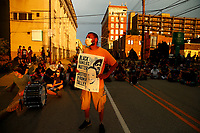 'Civil Saturday' protesters march from Bakery Square in East Liberty to Wilkinsburg where they combined marches with 'Pittsburgh, I Can't Breathe' in honor of Romir Talley before marching back past the home of Mayor Bill Peduto on Saturday August 22, 2020 in Pittsburgh, Pennsylvania.  (Photo by Jared Wickerham/Pittsburgh City Paper)
