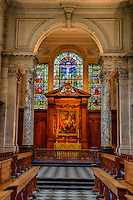 UK, England, Cambridge.  Pembroke College, The Wren Chapel, by Christopher Wren, consecrated 1665.