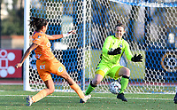 Jolet Lommen (9 Gent) scores a goal past goalkeeper Elke Geeraert (25 Brugge)during a female soccer game between Club Brugge Dames YLA and AA Gent Ladies on the sixth matchday of the 2020 - 2021 season of Belgian Scooore Womens Super League , saturday 7 th November 2020  in Knokke , Belgium . PHOTO SPORTPIX.BE | SPP | DAVID CATRY