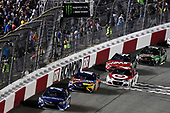 Monster Energy NASCAR Cup Series<br /> Federated Auto Parts 400<br /> Richmond Raceway, Richmond, VA USA<br /> Saturday 9 September 2017<br /> Martin Truex Jr, Furniture Row Racing, Auto-Owners Insurance Toyota Camry and Kyle Busch, Joe Gibbs Racing, M&M's Caramel Toyota Camry<br /> World Copyright: Nigel Kinrade<br /> LAT Images