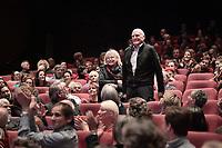 Bulle OGIER, Barbet SCHROEDER - Avant-Premiere du film LES GARDIENNES de Xavier Beauvois - La Cinematheque francaise - 1 decembre 2017 - Paris - France # AVANT-PREMIERE 'LES GARDIENNES' A PARIS