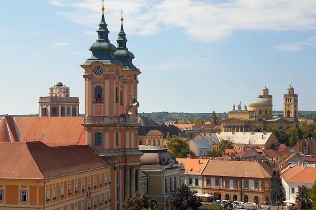 Minorette church from Eger Castle - Hungary