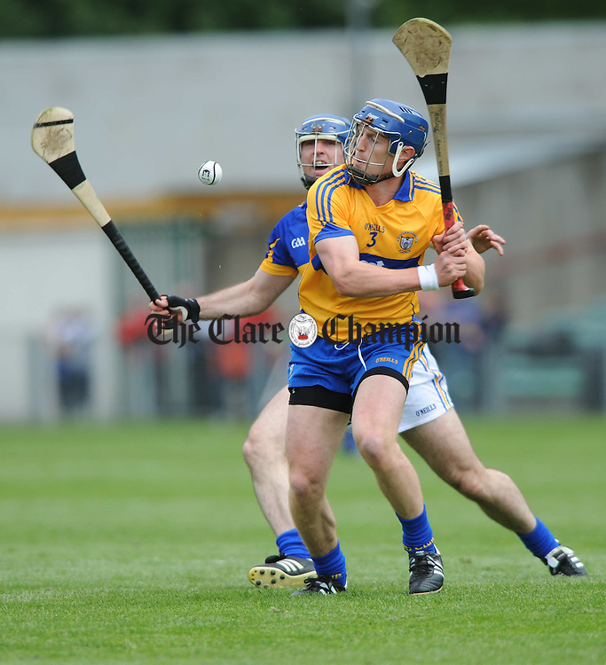 Eoin Kelly of Tipperary in action against Conor Cooney of Clare during their senior championship game at The Gaelic Grounds. Photograph by John Kelly