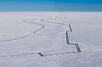 Pipeline near Nuiqsut, Alaska,  Arctic North Slope, National Petroleum Reserve in Alaska.
