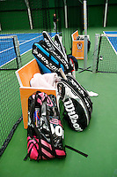 20131201,Netherlands, Almere,  National Tennis Center, Tennis, Winter Youth Circuit, tracket baggs<br /> Photo: Henk Koster