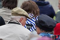 Feielichkeit zum 69. Jahrestag der Befreiung des Frauenkonzentrationslager Ravensbrueck.<br />Am Sonntag den 4. Mai 2014 fand die im ehemaligen Frauenkonzentrationslager Ravensbrueck die Feierlichkeiten zum 69. Jahrestag der Befreiung statt.<br />In Ravensbrueck war von 1938 bis 1945 ein Konzentrationlager fuer Frauen in der brandenburgischen Kleinstadt Fuerstenberg. Im Mai 1945 wurde es von russischen Soldaten befreit.<br />Zu den Feierlichkeiten kamen ueberlebende Frauen aus ganz Europa, die meissten von ihnen aus Polen.<br />4.5.2014, Ravensbrueck/Fuerstenberg<br />Copyright: Christian-Ditsch.de<br />[Inhaltsveraendernde Manipulation des Fotos nur nach ausdruecklicher Genehmigung des Fotografen. Vereinbarungen ueber Abtretung von Persoenlichkeitsrechten/Model Release der abgebildeten Person/Personen liegen nicht vor. NO MODEL RELEASE! Don't publish without copyright Christian-Ditsch.de, Veroeffentlichung nur mit Fotografennennung, sowie gegen Honorar, MwSt. und Beleg. Konto: I N G - D i B a, IBAN DE58500105175400192269, BIC INGDDEFFXXX, Kontakt: post@christian-ditsch.de]