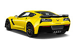 Car pictures of rear three quarter view of a 2019 Chevrolet Corvette Z06 Coupe 1LZ 3 Door Targa angular rear