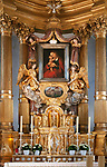 Deutschland, Niederbayern, Passau: Wallfahrtskirche Mariahilf ob Passau, Altar | Germany, Lower Bavaria, Passau: pilgrimage church Mariahilf, altar