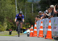 Luke Mudgway (Black Spoke) wins stage two. Masterton-Alfredton road circuit - Stage Two of 2021 NZ Cycle Classic UCI Oceania Tour in Wairarapa, New Zealand on Wednesday, 13 January 2021. Photo: Dave Lintott / lintottphoto.co.nz