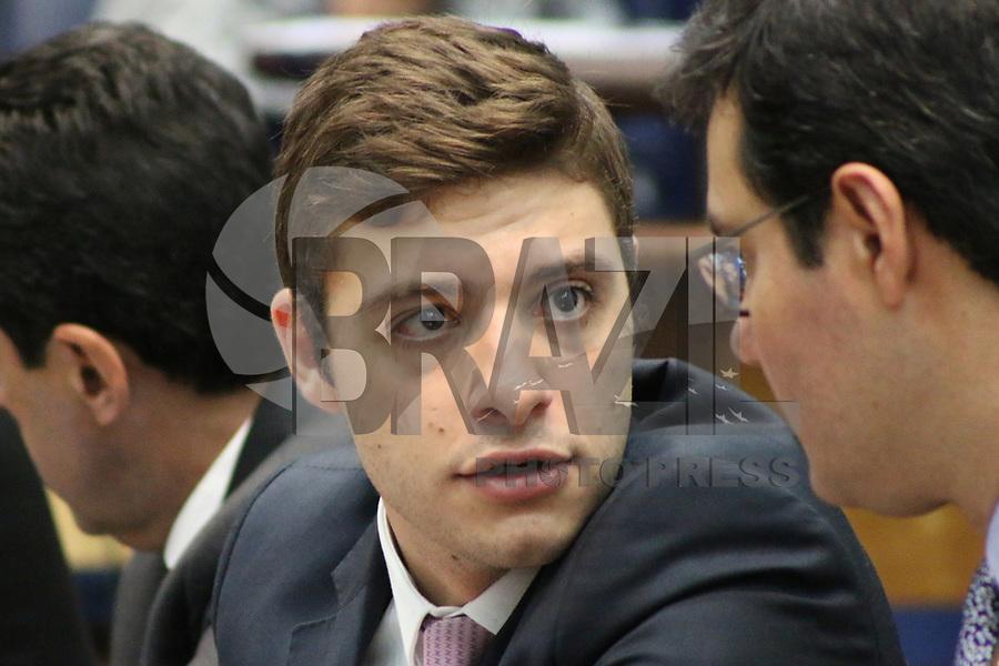 SÃO PAULO, SP, 21.05.2019 - POLITICA-SP - Thiago Auricchio, Deputado Estadual PR/SP (Vice Presidente), durante reunião da Comissão Parlamentar de Inquérito - Fundação para o Remédio Popular da Assembléia Legislativa do Estado de São Paulo, nesta terça-feira, 21. (Foto Charles Sholl/Brazil Photo Press)